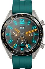Huawei Watch GT Active 46,5mm Dark Green Gehäuse Dark Green Silikon Armband...