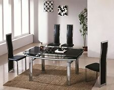 Glass Up to 8 Modern Kitchen & Dining Tables with Extending