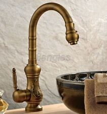 Antique Brass Single Lever Kitchen Sink Hot & Cold Faucet Mixer Tap 8sf001