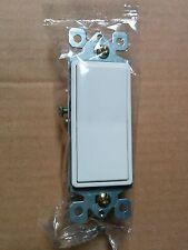 (20 pc) NEW Decorator Switches 3-Way 15A WHITE Three Way Decora Style Switch