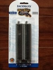 """Bachmann 1/160 N Scale 5"""" Straight Track Nickel Silver 6- Pack # 44811 F/S"""