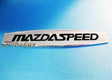 Aluminio cepillado insignia de coche Mazda de velocidad mx5