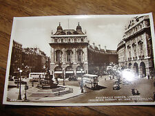 UK - London, Picadilly Circus real photo postcard regent st