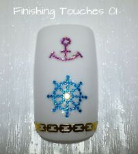 Nail Art Sticker- Glitter Anchor Decal #420 LSHA018 Transfer Wrap Holiday Gold