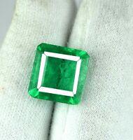 Smaragdschliff 7-9 ct Zambian Smaragd Edelstein natürlich zertifiziert