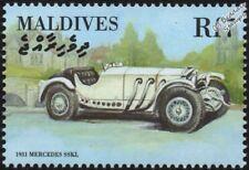 1931 MERCEDES-BENZ Type SSK / SSKL Mint Automobile Car Stamp (2000 Maldives)