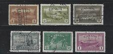 Canada 1946 Peace Used Set F,VF