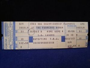 1979-1980 Los Angeles Lakers & Magic Johnson 1st Yr Authentic NBA Finals Ticket!