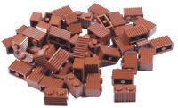 LEGO - 50 x Riffelstein / Stein geriffelt 1x2 braun / 2877 NEUWARE (L13)
