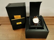 Breitling Transocean Chronograph Watch 18k Red Gold Croc Leather Strap (rb0152)