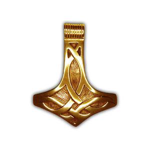 Rob Ray – Anhänger Thors Hammer – Sterlingsilber 925er vergoldet