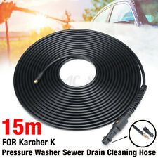 2300psi 15m Pressure Washer Sewer Drain Cleaning Hose Pipe Cleaner for