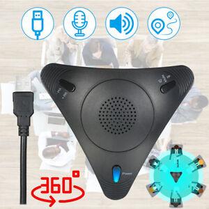 360° Omni Konferenzmikrofon Tischmikrofon USB Mikrofon Stereo Stimme Treffen PC