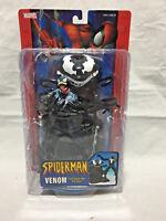 Marvel Spiderman Venom Action Figure and Trap Base 2004toy biz Spider-man