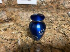 Small Travel Purse Cat Dog Pet Blue Paw Print Memorial Urn