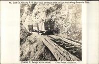 Pennsylvania Coal Co c1950s-60s REPRINT RPPC RR TRACKS GREENVILLE CLIFFS