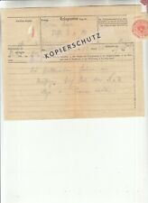 Telegramm 12.3.1938 Vorkriegszeit Steyr, RR