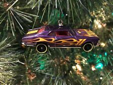 1968 CHEVY NOVA CUSTOM CHRISTMAS ORNAMENT Purple w/Flames chevrolet