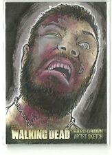 Cryptozoic Walking Dead Season 3 Part 1 Walker Sketch Card by Mikey Babinsk
