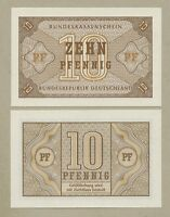 GERMANY  Federal Republic  10 pfennig  1967  P26  Uncirculated   Banknotes