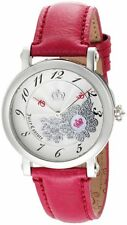 Juicy Couture 1900668 Rotating Disc Pink Leather Strap Swarovski Women's Watch