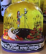 DISNEY PARKS TIM BURTON'S NIGHTMARE BEFORE CHRISTMAS SNOW GLOBE JACK & SALLY NEW