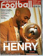 FRANCE FOOTBALL 27/12/2005; Thierry Henry/ Monaco et Di Vaio lancent le Mercato