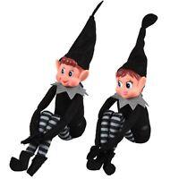 Christmas Helper Elf  Style Novelty Xmas Kid Plush Black Doll Boy Girl Figure