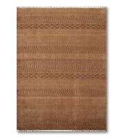 6' x 9' Hand Knotted Oriental area rug 100% Wool 6x9 Modern Brown