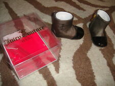 New Nib Juicy Couture Sz 3 Infant Baby Black Brown Boots
