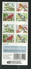 2016 #5129b with 5126-5129 Songbirds in Snow Booklet of 20 Forever Holidays