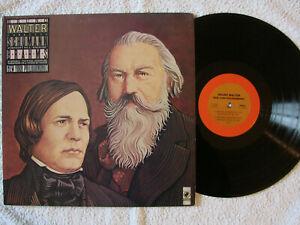 Bruno Walter : Schumann : symph. No 3 - Brahms : variations theme Haydn -  LP