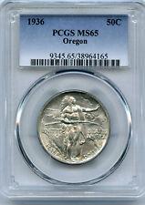 1936 50c Oregon Silver Commemorative Coin PCGS MS 65