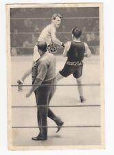 1932 Olympics Boxing Card Hans Bernlöhr (Germany) vs. Bert Lowe (New Zealand)