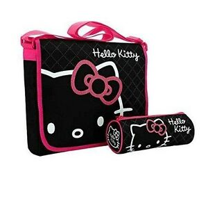 Hello Kitty Messenger Bag - Black and Pink (223789433)