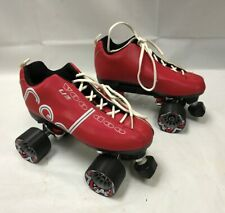 Labeda Voodoo U3 Outdoor Quad Roller Skates Red w/ Black Caym 00004000 an Wheels Size 7 W