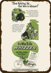 1948 WHIZZER BIKE MOTOR Vintage Look REPLICA METAL SIGN -- WHIZZER BICYCLE MOTOR