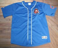 Chicago Cubs Marlon Byrd #24 MLB Baseball VTG Jersey Youth L Large Blue Majestic