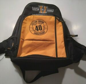 Harley Davidson Custom Chrome 40th Anniversary Backpack Black color
