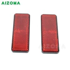 Red 99x35.5 MM 2pcs Plastic Reflector Rectangle Decal For Motorcycle Car Trailer