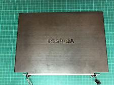 """Genuine Originale Toshiba Portege Z830 13.3"""" Schermo LCD Cover Posteriore Coperchio Superiore Cerniere"""