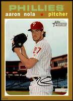 Aaron Nola 2020 Topps Heritage 5x7 Gold #53 /10 Phillies