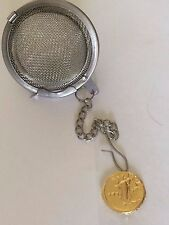 Aureus Of Domitian Coin WC28 Gold Tea Ball Mesh Infuser Stainless Steel Strainer