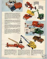 1959 Paper Ad Tonka Toy Truck Dump Michigan Shovel Army Combat Bulldog Tank