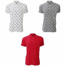 Spotted Short Sleeve Casual Shirts & Tops for Men