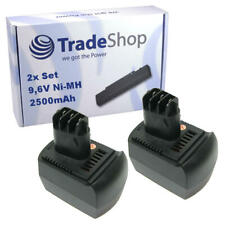2x Trade-Shop Premium Akku 9,6V 2500mAh Ni-MH für Metabo SBP9.6 SBT9.6 ULA 9.6