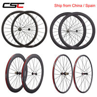 CSC 700C carbon road bike wheelset matte 38mm 50mm deep clincher bicycle wheels