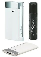 S.T. Dupont Feuerzeug Slim 7 weiß mit Flat-Jetflamme Neu + Gratis-Gas