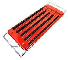 "Mechanics Time Savers 5 Row Lock A Socket Tray Set 1/4, 3/8 & 1/2"" Drive"