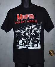 Misfits Violent World T-Shirt - Medium - Front & Back Printed - Long Sleeve